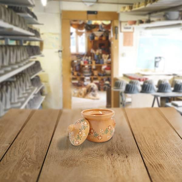sucrier en terre cuite poterie friedmann Soufflenheim Alsace